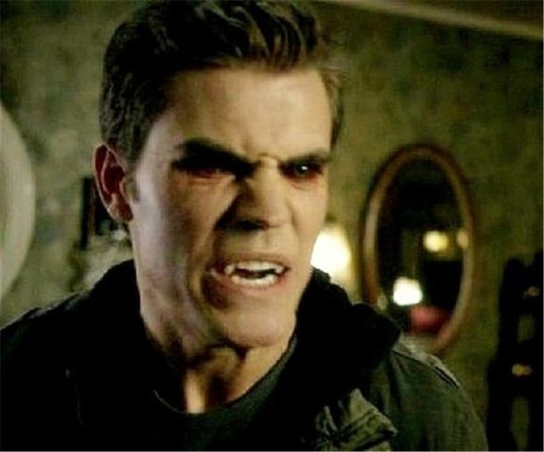 fangs paul wesley rawr red eyes stefan salvatore the vampire