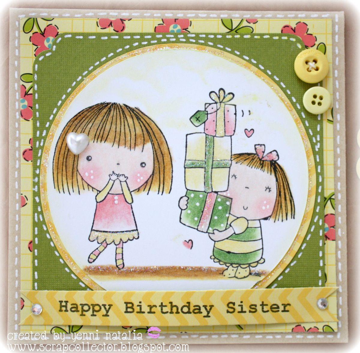 Handmade birthday greeting cards for sister happy birthday sister handmade birthday greeting cards for sister happy birthday sister kristyandbryce Choice Image