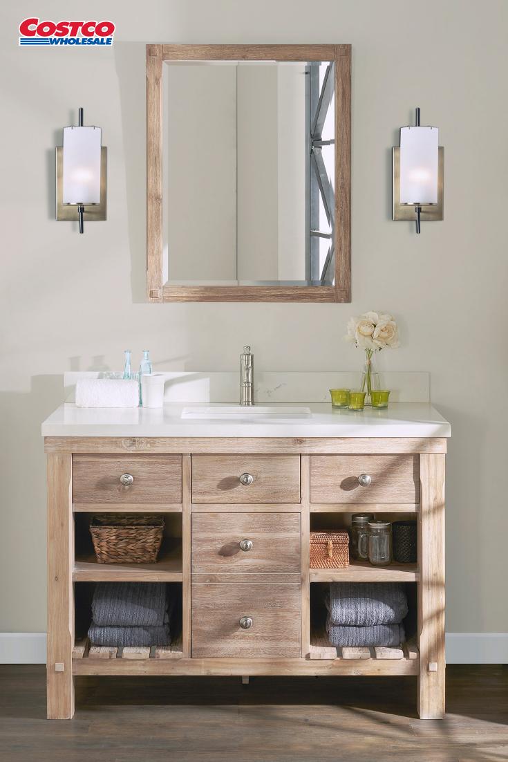 Elbe Rustic 48 Single Sink Vanity By Northridge Home Single Sink Vanity Single Bathroom Vanity Bathroom Design