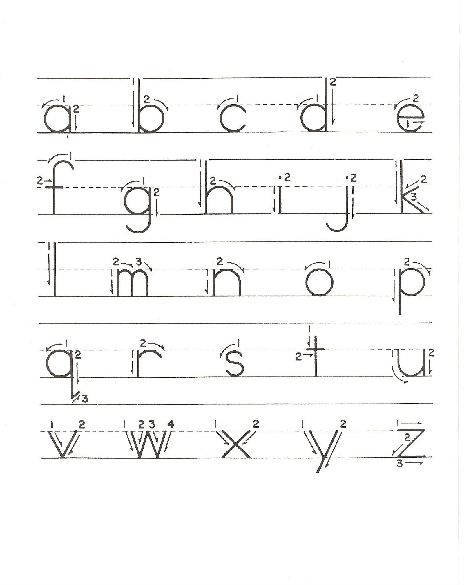 Lower Case Alphabet Tracing Learning Kiddo Shelter