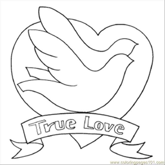 Bird To Color Free Printable Coloring Page 68 True Love Birds