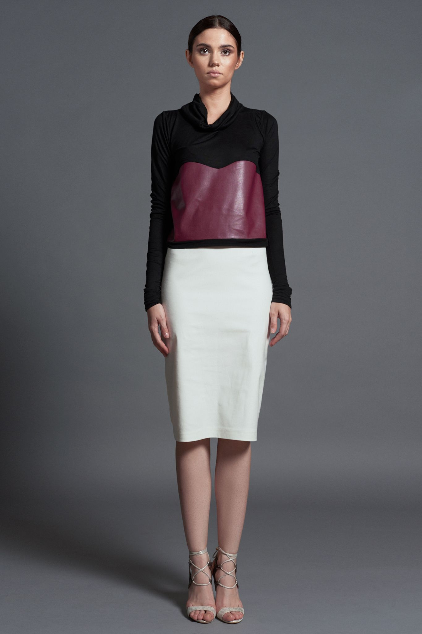 Lafayette Burgundy Blouse AW 2016-17 Office Collection Navitique