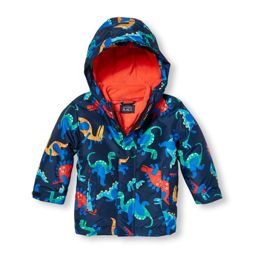 02aef5ffc s Toddler Boys Dino Print 3-In-1 Jacket - Blue - The Children's Place