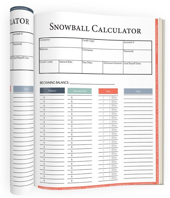 snowball calculator! Absolutely love this workbook! It is changing - budget calculator spreadsheet
