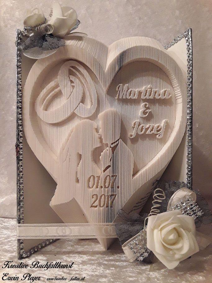 Hochzeitsbuch Herz Brautpaar Eheringe Bucher Falten Hochzeit Bucher Falten Vorlage Hochzeitsbuch