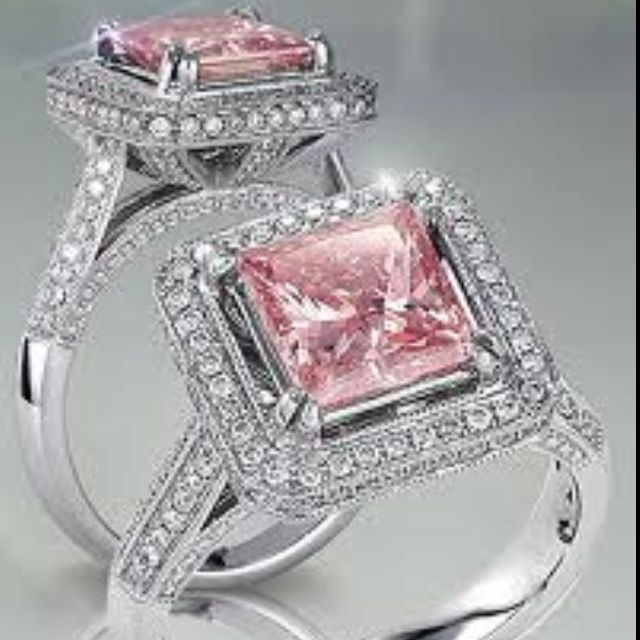Dream Engagement Ring Beauty Jewelry Pink Diamond