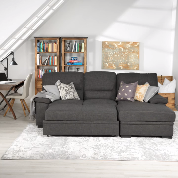 detailed look 4f5d8 ea089 This is a pretty talented sofa. Wouldn't it be amazing, though, if it would  make the bed and tidy the pillows? #tessarosofa #myleons . . . #s… [Video]  in 2019 | Sofa bed decor, Ikea sofa bed, Sofa bed