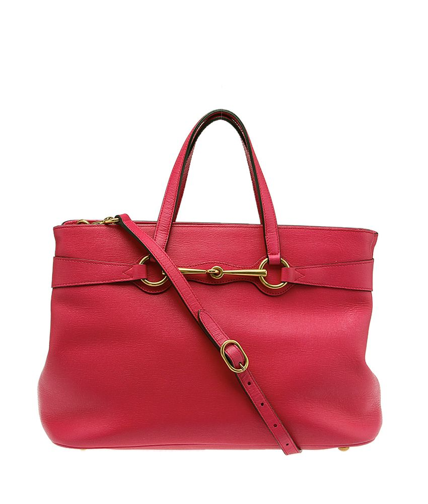 eb9423fb4 Gucci Horsebit Pink Leather Crossbody Tote