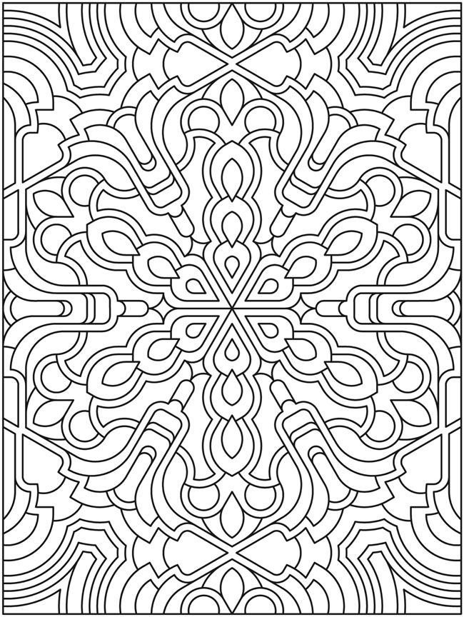 Mandala to color from dover coloring pages for adults Coloring books for adults uk