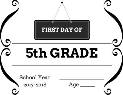 5th Grade First Day of School Sign for Photos Free ...