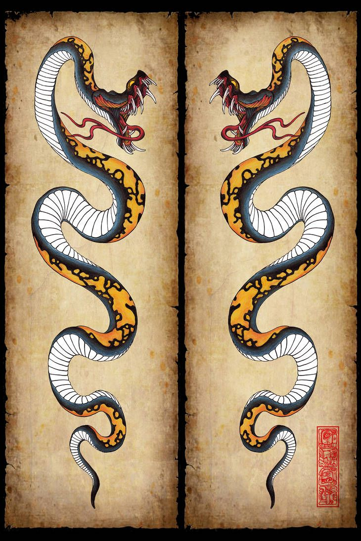 Snake tattoo design by burke5 Snake tattoo design, Snake