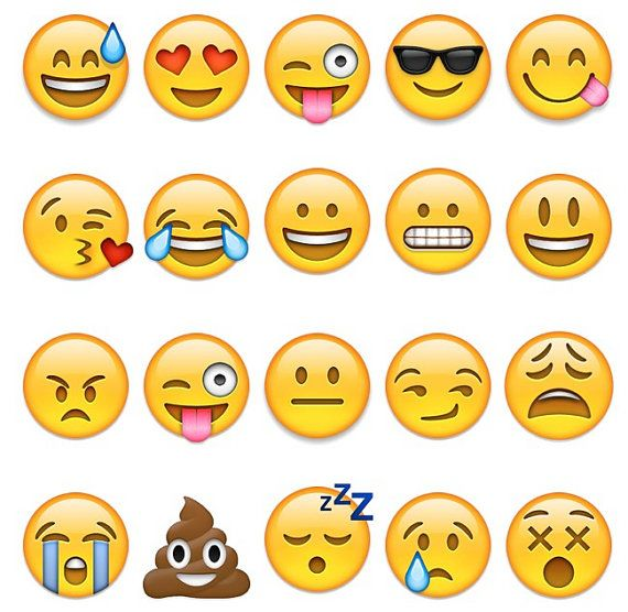 Emoji Temporary Tattoos Emoji Party Emoji by SymbolicImports