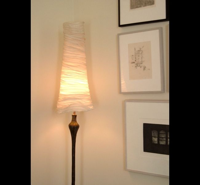 Proud Woman II floor lamp with sculpted cone shade by Hannah ...