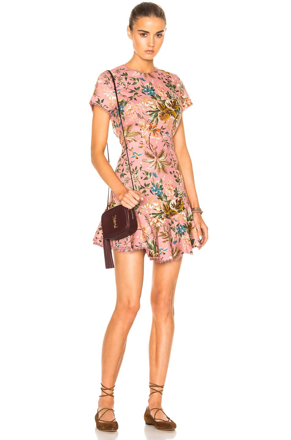 95ad57cb66bf3 Image 2 of Zimmermann Tropicale Lattice Dress in Pink Floral ...