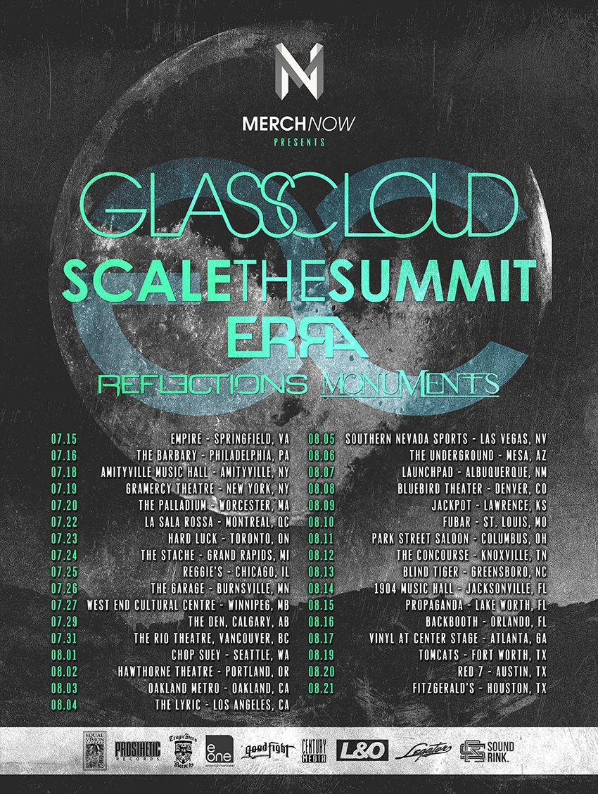 Legator Guitars Artists Glass Cloud Reflections On Tour With