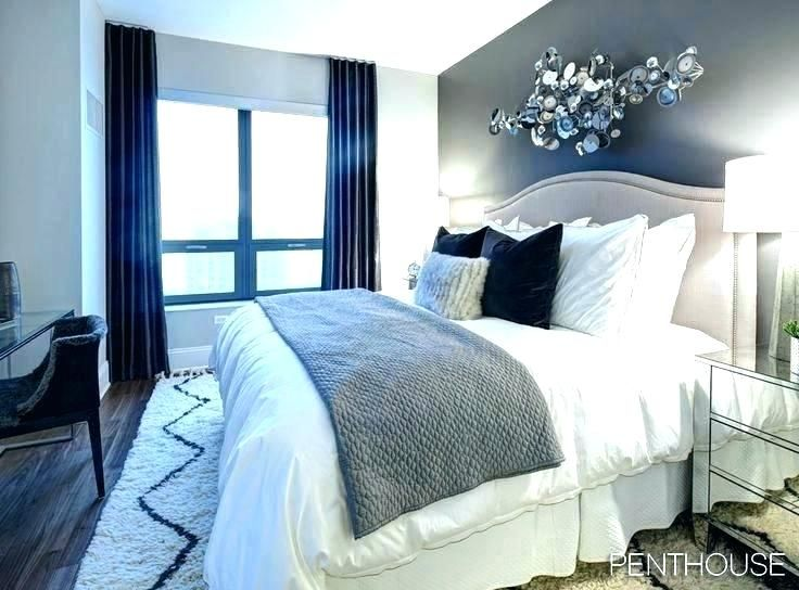 Navy Blue Yellow And Grey Bedroom Teal Walls Gray Dark