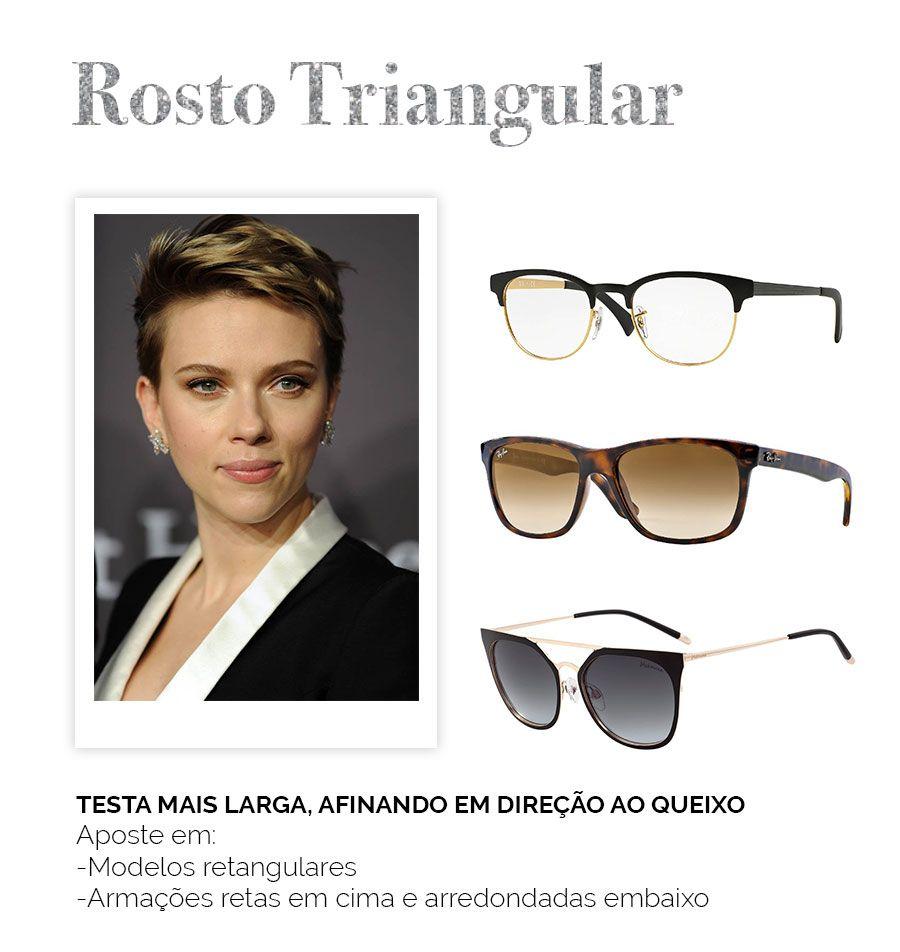 Modelos De Oculos Para Cada Rosto Rosto Triangular Com Imagens