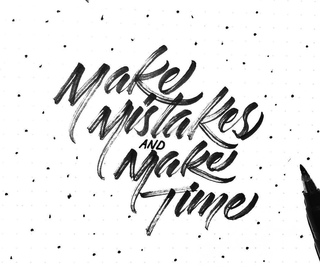 Make Mistake And Make Time  Handmade Font    Fonts
