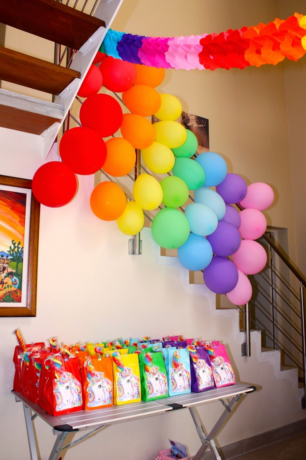 rainbow unicorn party party pack loot bags ideas. Black Bedroom Furniture Sets. Home Design Ideas