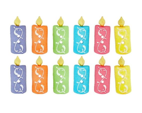 12 Birthday Candles Jesse James Shank Novelty Buttons