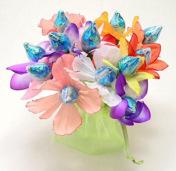 hershey kiss flowers | Candy Bouquet 12 Hawaiian Hershey Mac Nut ...