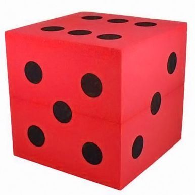 Large Foam Dice Red 100mm D6 Red Foams Red Black Spot