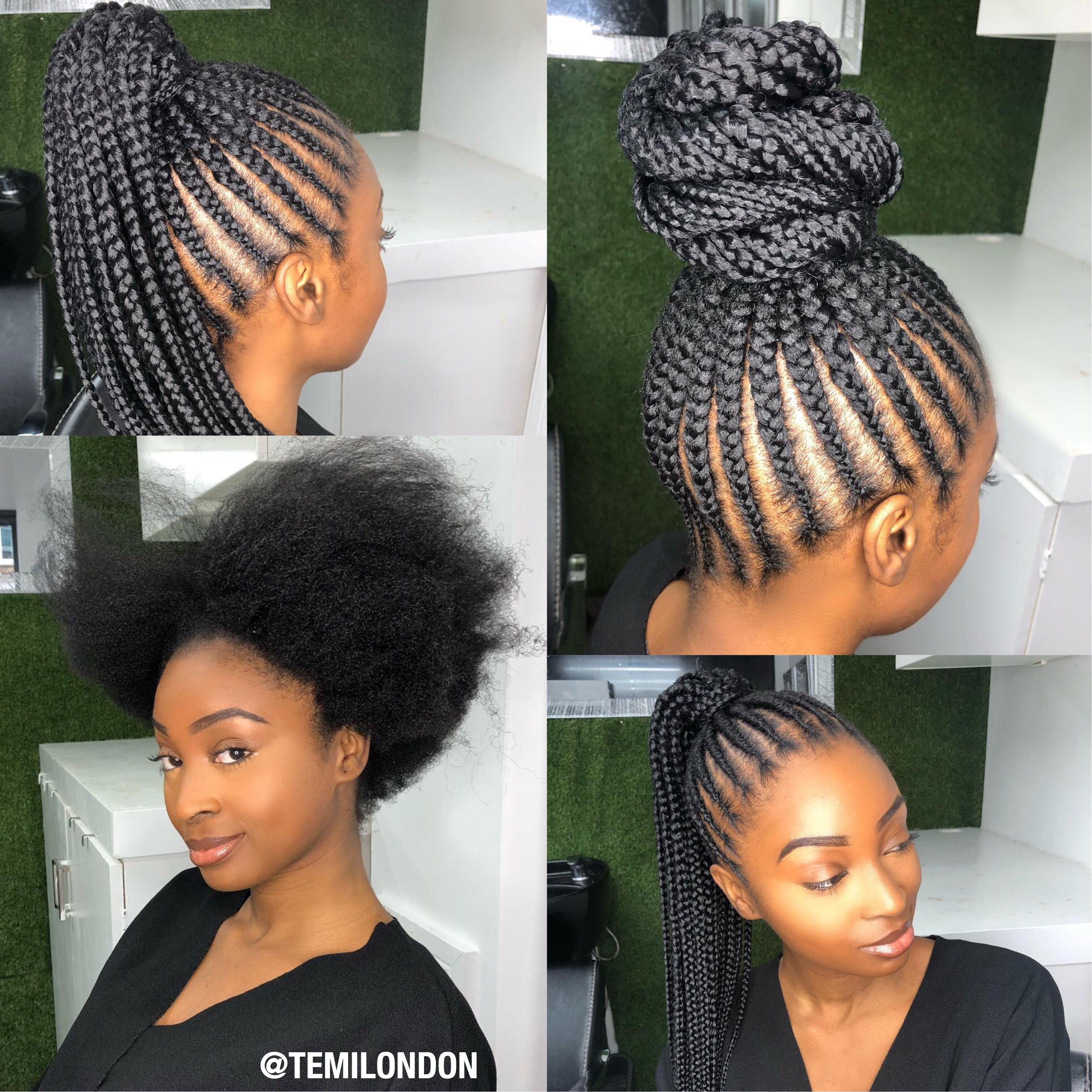 Feed In Braids Natural Hair Protective Styles Natural Hair Styles Feed In Braids Ponytail Feed In Braid