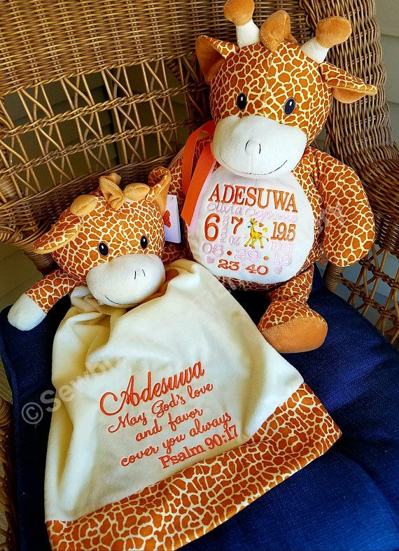 Personalized baby gift stuffed animal giraffe stuffed monkey personalized baby gift stuffed animal giraffe stuffed negle Images