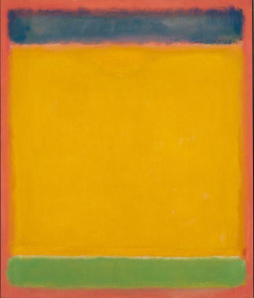 Mark Rothko, Sin título (azul, amarillo, verde en Red), 1954, Óleo sobre lienzo