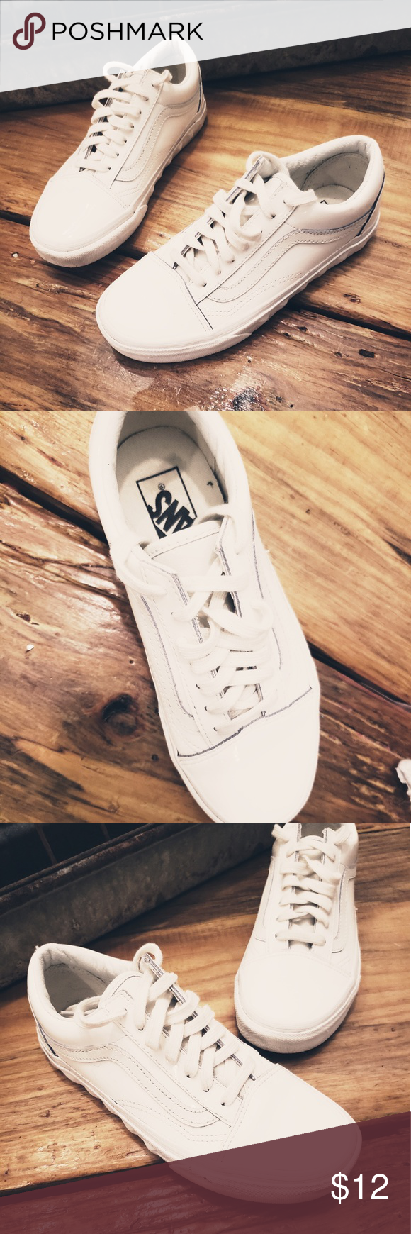 New! Plastic Vans New without tags Van's sneaker in white