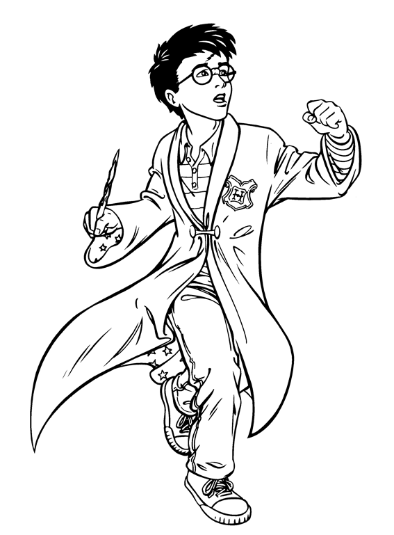 Harry Potter Preparing To Use The Magic Wand Coloring Pages For Kids Fdr Prin Harry Potter Coloring Pages Harry Potter Coloring Book Harry Potter Printables
