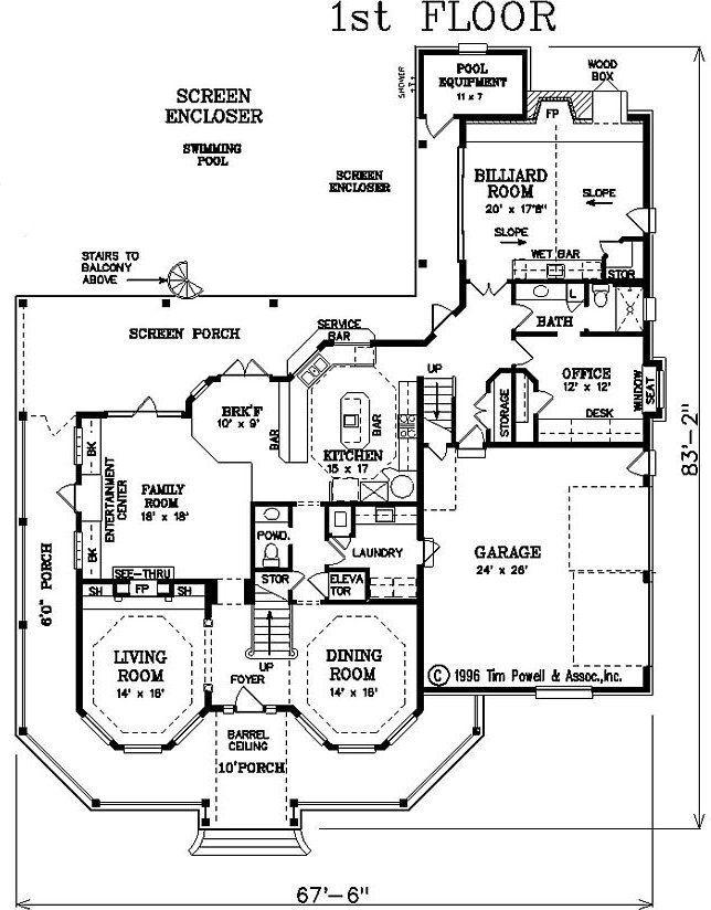 victorian house layout floor plan | Victorian House Plan - #ALP-085Y ...