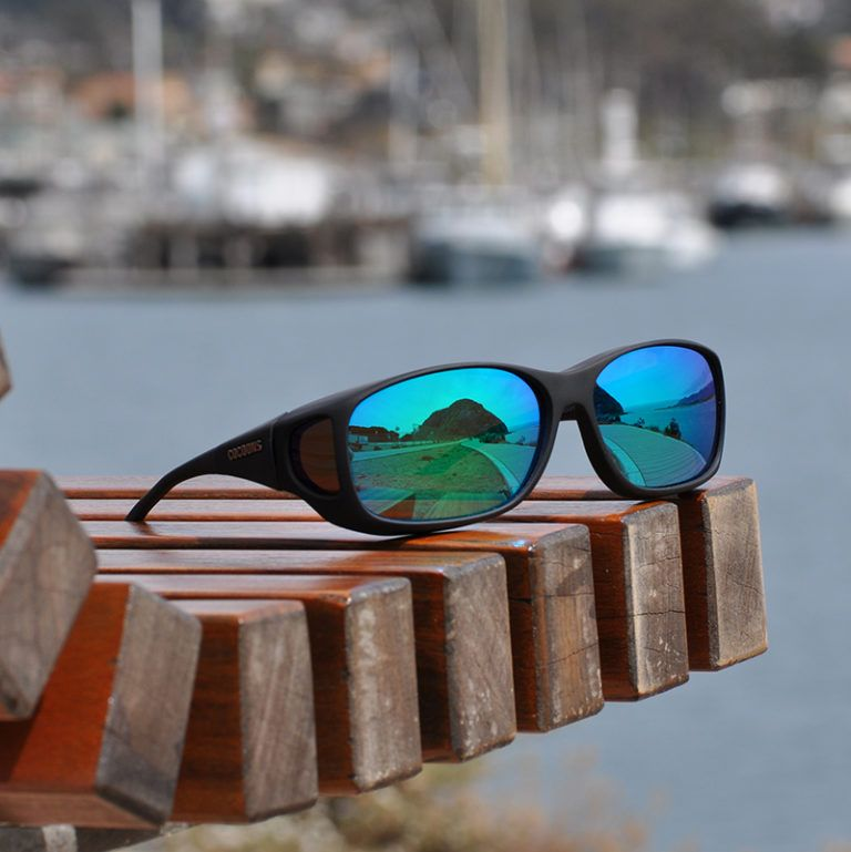Style Line (MX) Black Polarized Green Mirror Fit over