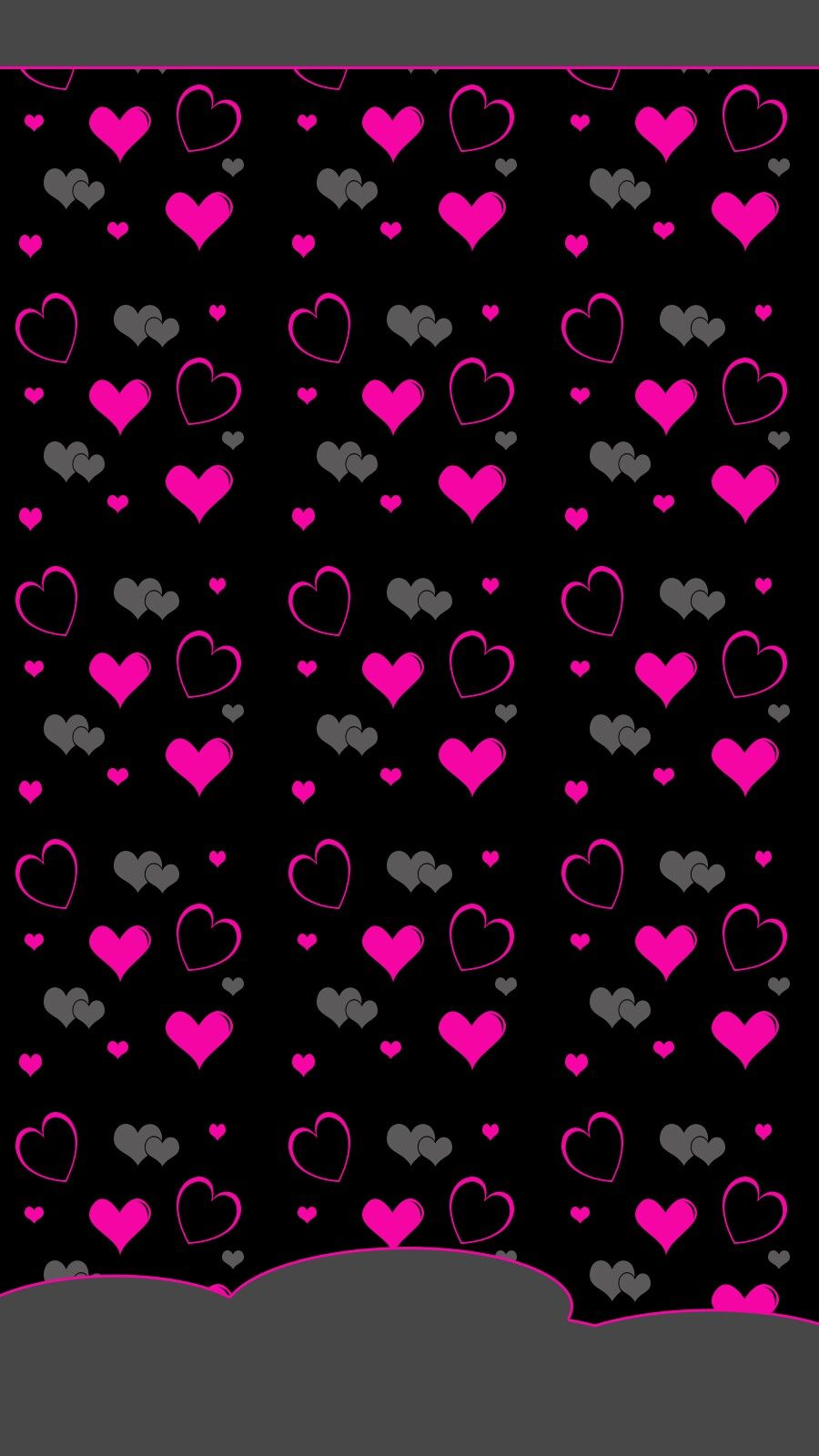 Pink And Black Hearts Heart Wallpaper Valentines Wallpaper Black Wallpaper