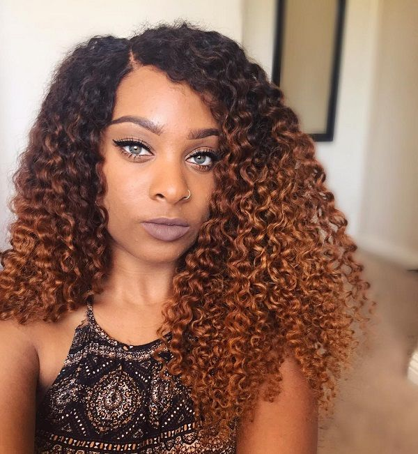 Ombre Hair Coloring Ideas For Natural Hair Curly Hair: Top 10 2017 Spring & Summer Natural Hair Color Ideas