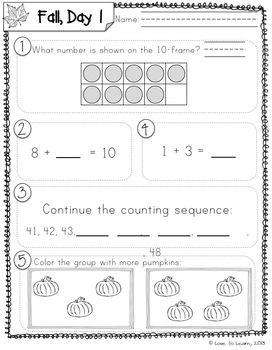 graphic about First Grade Common Core Standards Printable identified as Day-to-day Math 2 (Tumble) Very first Quality Day by day 5 1st quality math