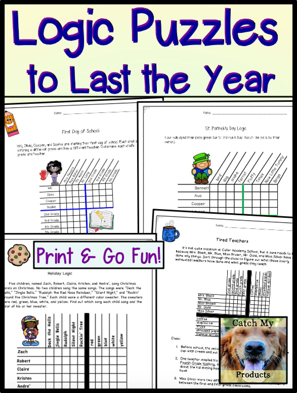Brain Teasers And Logic Puzzles For 4th Grade