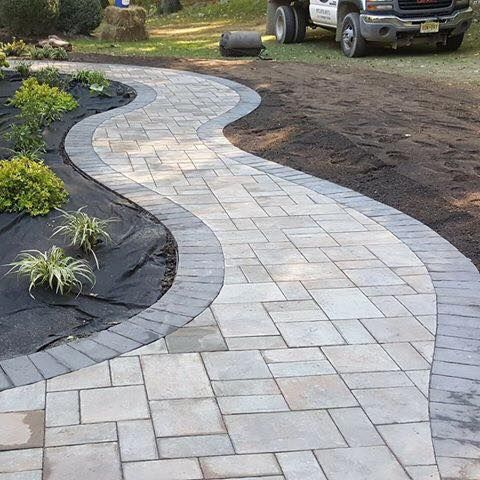 Black River Landscape Management    walkway, stone, summer, home improvement #walkwaystofrontdoor