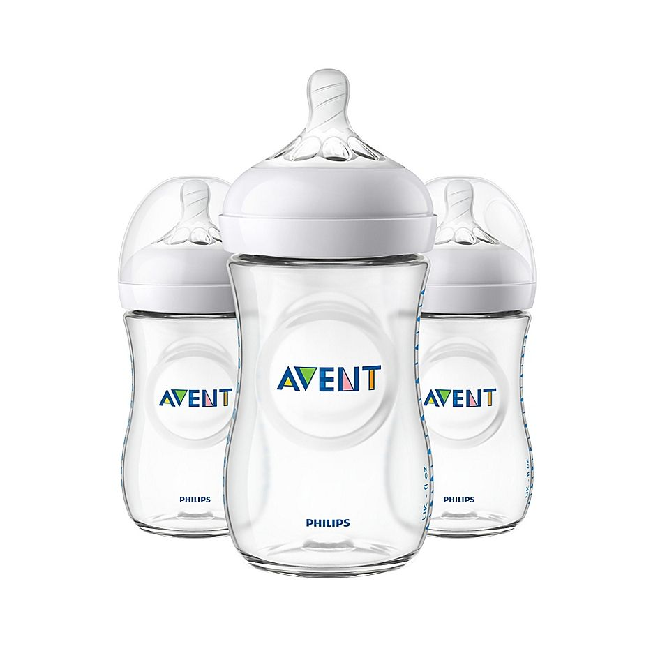 Phillips Avent Natural 3 Pack 9 Oz Bottles In Clear Baby Bottles Best Baby Bottles Avent Natural Bottles