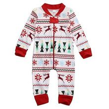 636e3781a New Cute Christmas Infant Baby Boy Girl Xmas Zipper Jumpsuit Romper ...