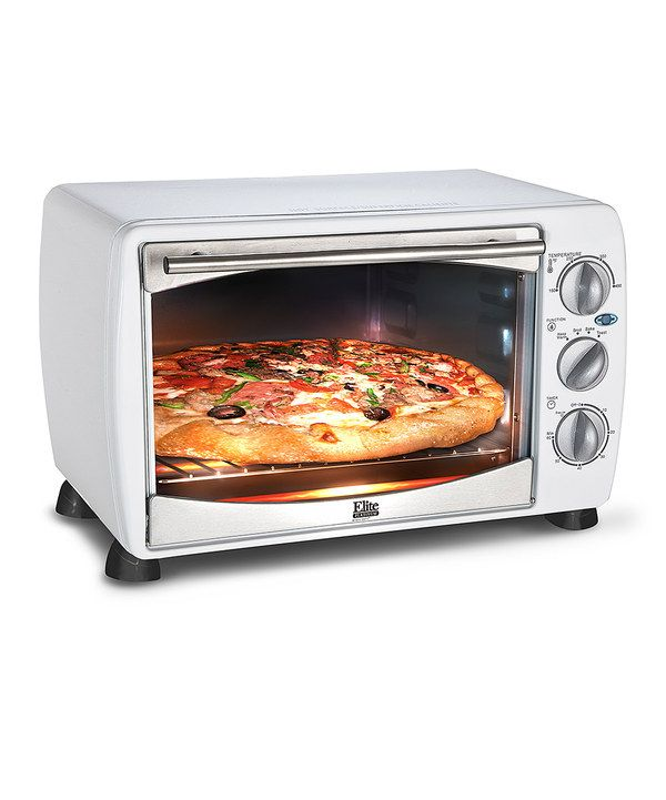 Look At This White Elite Cuisine Four Slice Timer Toaster Oven On