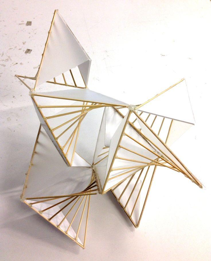 三角幾何破碎造成的矩形曲面