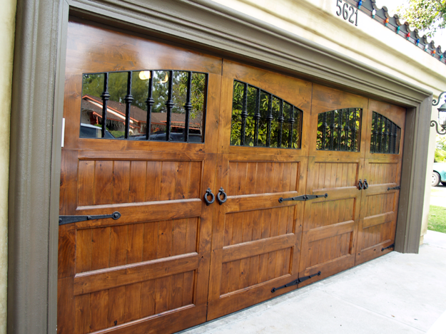 cedar garage doors. Wood Garage Door With Substantial Windows To Let The Light In. Cedar Doors
