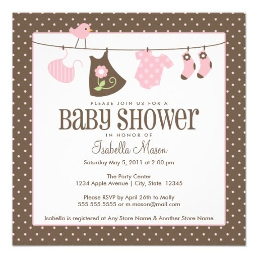 Square Baby Laundry | Baby Shower Invite