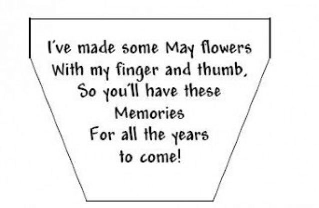 mothers day poems for kids. Finger Flowers for Mother s Day Home  Flower and Craft