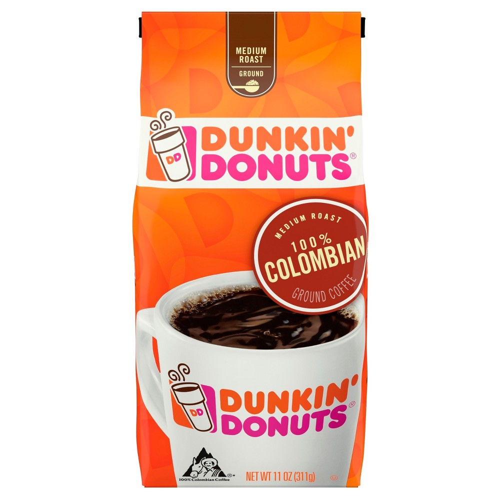 Dunkin Donuts 100 Colombian Medium Roast Ground Coffee