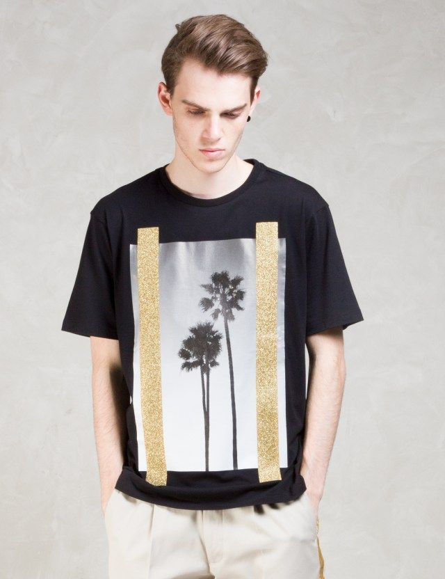 Palm Angels B/W Palms S/S T-Shirt