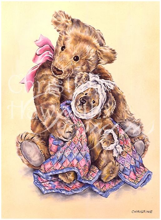 Meadow Cottage Bears : Poorly Bear © Copyright Christine Haworth Designs