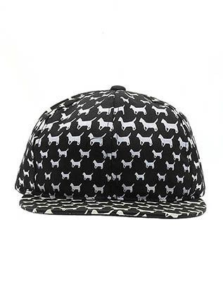 Hat And Cap Dog Print Snapback Hat Ris17Nlh2234Bkwht9959
