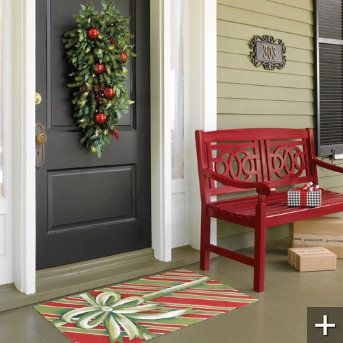This Red Bench Would Look Cute On My Front Porch Home